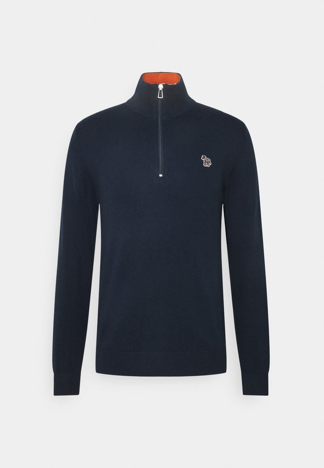 MENS ZIP NECK ZEBRA - Pullover - dark blue