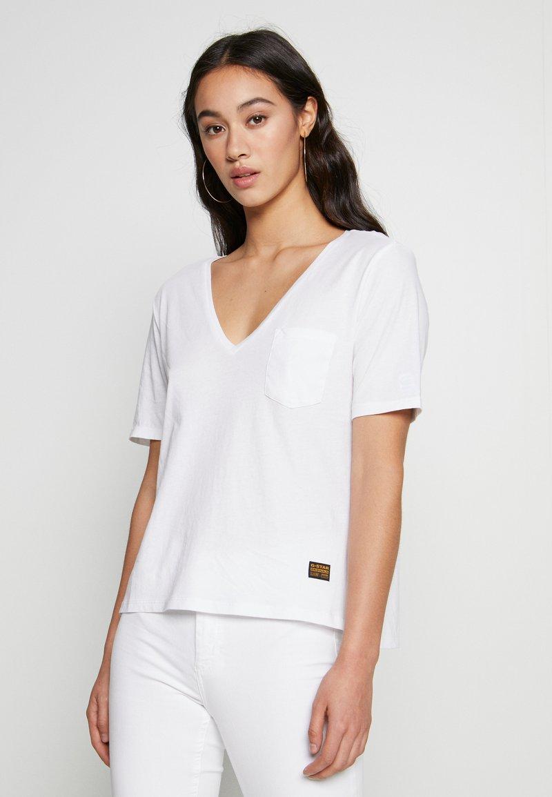 G-Star - CORE OVVELA - Print T-shirt - white