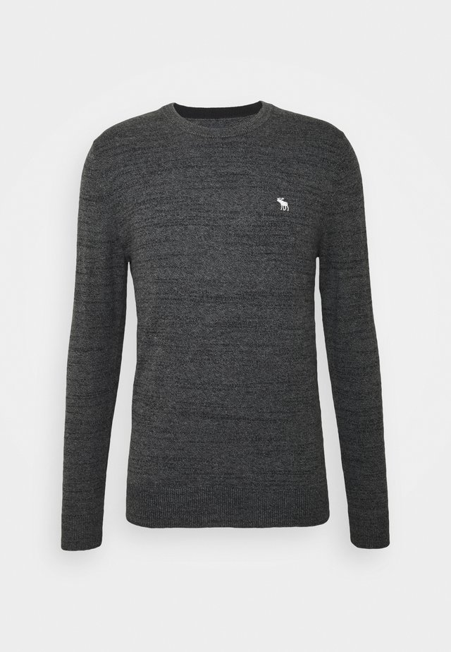 CORE ICON CREW - Jumper - textured charcoal
