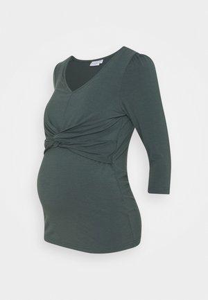 Long sleeved top - balsam green
