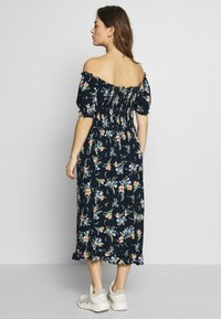 Dorothy Perkins Maternity - MATERNITY FLORAL MILKMAID CRINKLE DRESS - Jersey dress - navy - 2