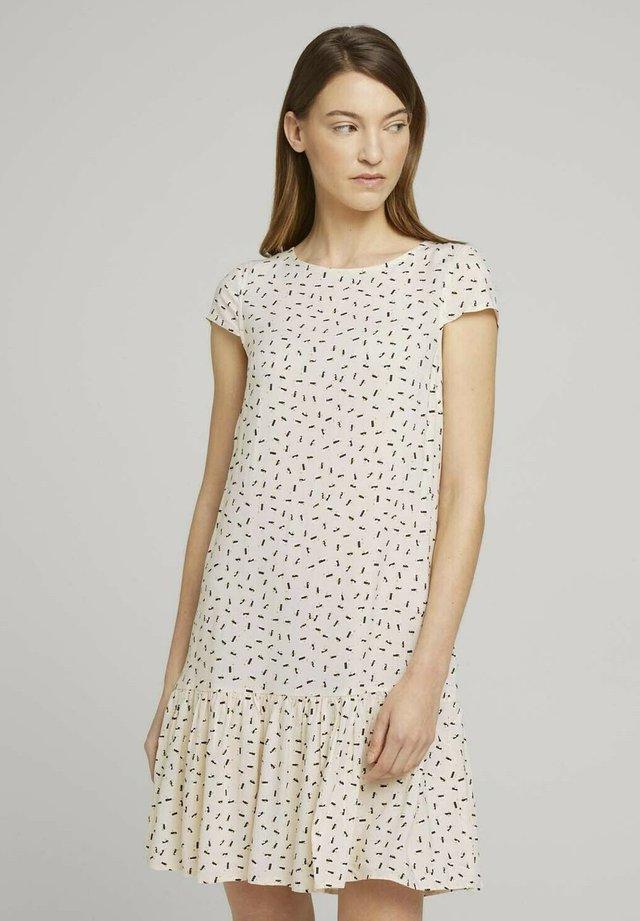 Sukienka letnia - beige geometrical design