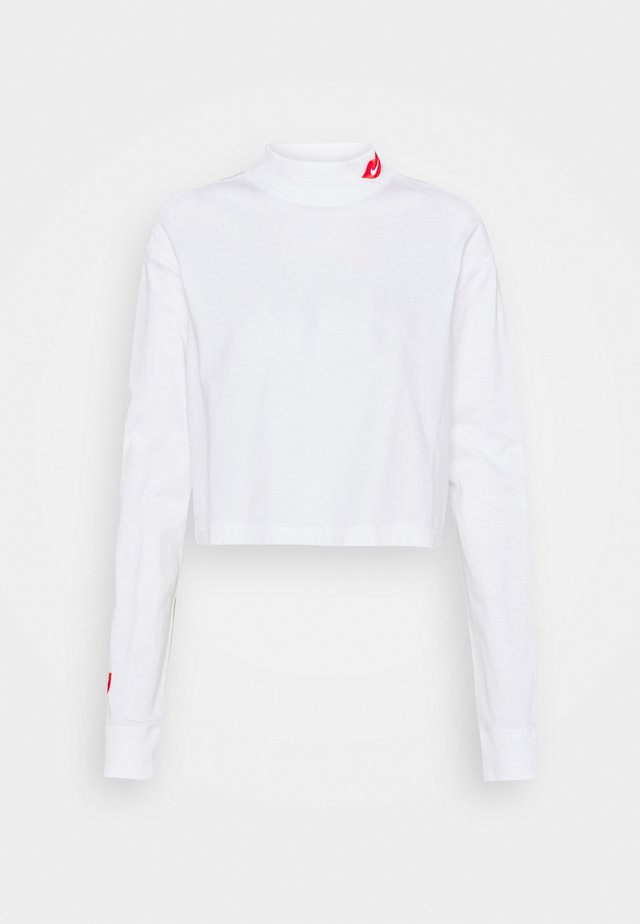 TEE MOCK LOVE - Long sleeved top - white