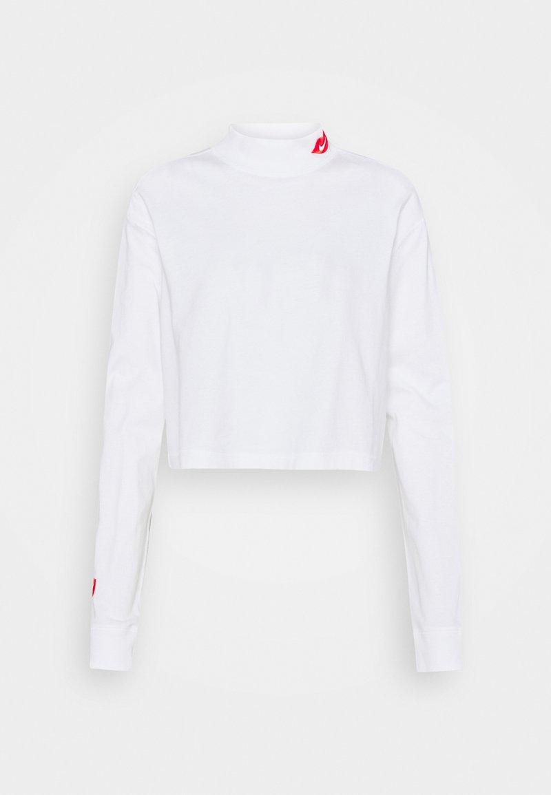 Nike Sportswear - TEE MOCK LOVE - Top sdlouhým rukávem - white