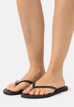 HAV. SLIM CRYSTAL SWAROVSKI - Pool shoes - black