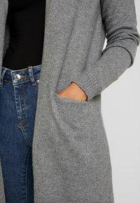 Vero Moda Petite - VMBRILLIANT LONG OPEN CARDIGAN - Cardigan - medium grey melange - 4