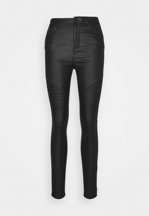 VMSOPHIA SKINNY BIKER COATED  - Jeans Skinny Fit - black/coated