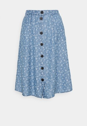 VIFLIKKA MIDI SKIRT - A-Linien-Rock - medium blue