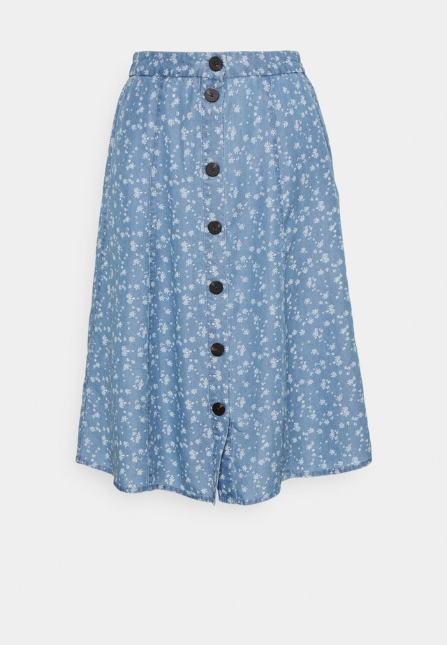 VIFLIKKA MIDI SKIRT - A-lijn rok - medium blue