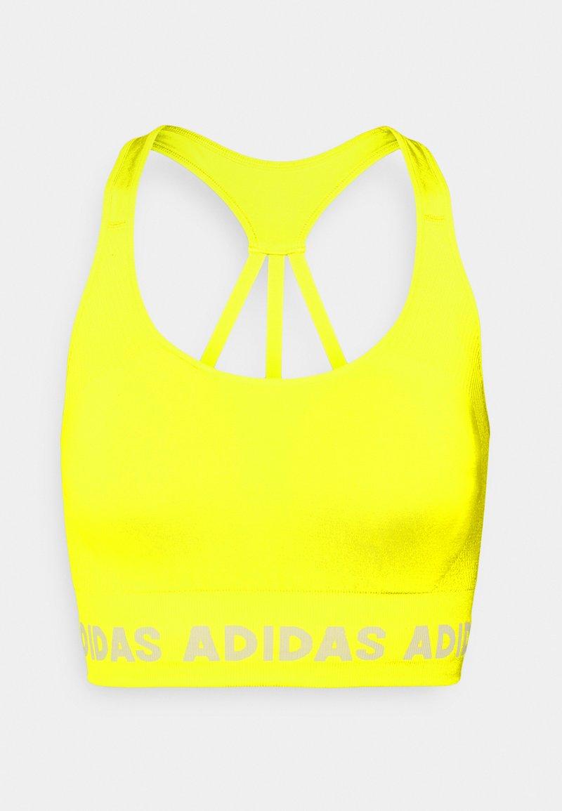 adidas Performance - AEROKNIT BRA - Sujetadores deportivos con sujeción ligera - acid yellow