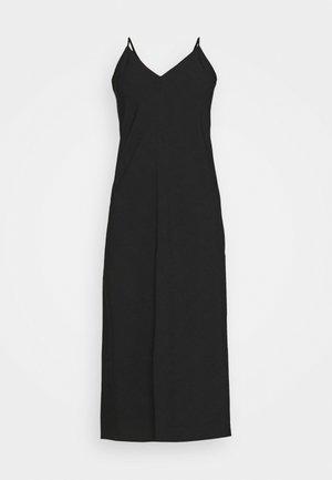 V NECK MERROW EDGE SHEATH - Denní šaty - black
