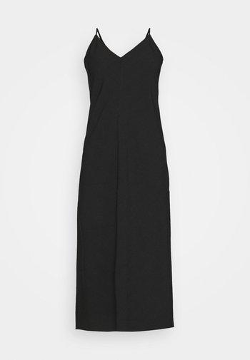 V NECK MERROW EDGE SHEATH - Day dress - black