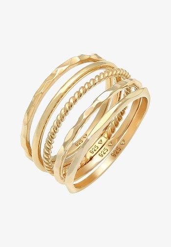 5 SET - Ring - gold