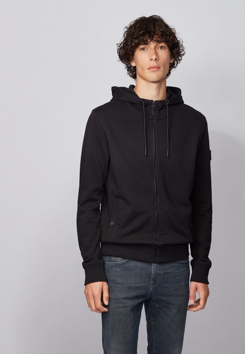 BOSS - ZOUNDS  - veste en sweat zippée - black