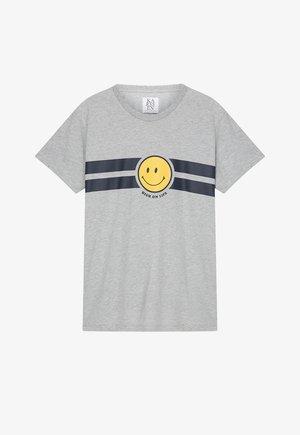 Print T-shirt - grey melee