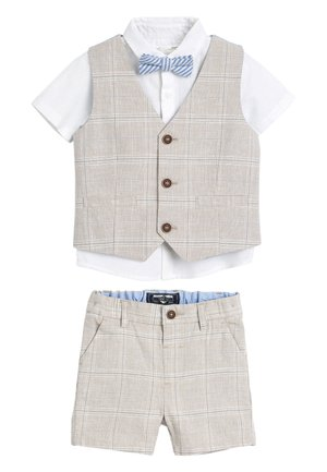 STONE WAISTCOAT, SHIRT AND SHORTS SET  - Bodywarmer - beige