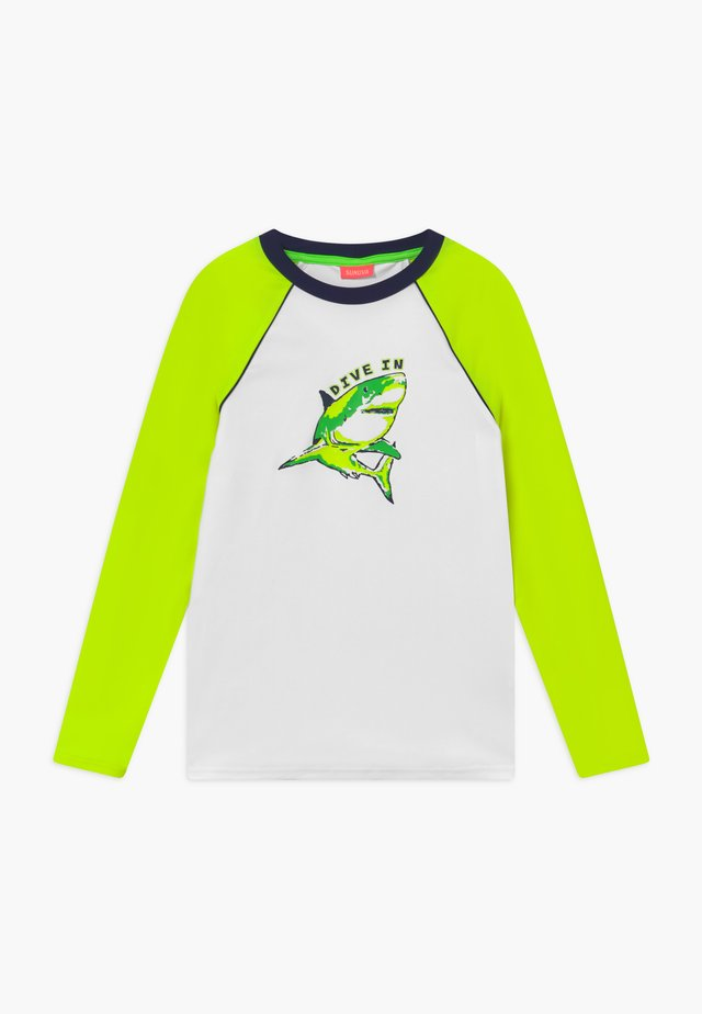 BOYS  SHARK LONG SLEEVE - Solbeskyttende drakt - white