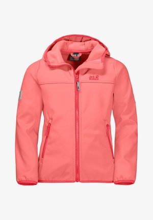 Soft shell jacket - apricot coral