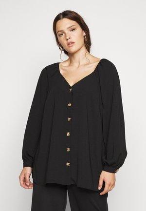 BLUSH SWEETHEART NECK - Bluser - black