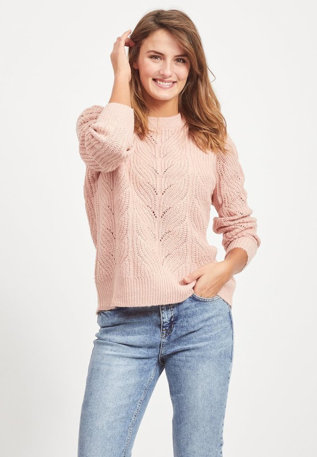 OBJNOVA STELLA - Strikpullover /Striktrøjer - misty pink