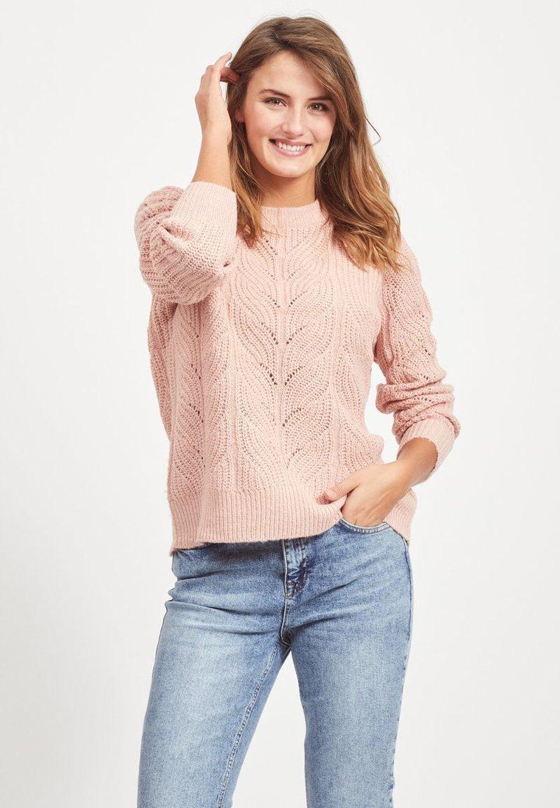 Object - OBJNOVA STELLA - Strikpullover /Striktrøjer - misty pink