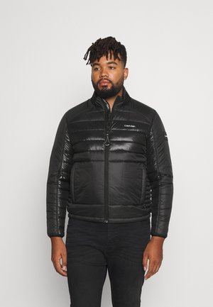 ENGINEERED QUILT MIX JACKET - Light jacket - black