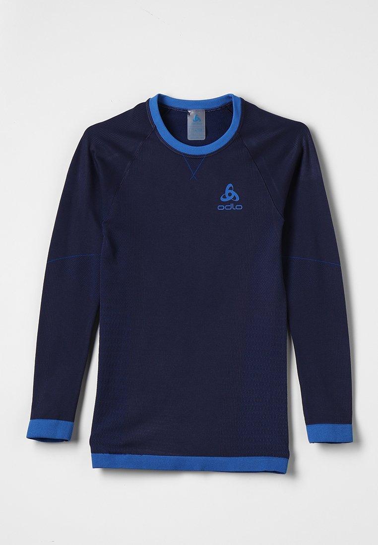 ODLO - CREW NECK PERFORMANCE WARM KIDS  - Camiseta interior - diving navy /energy blue