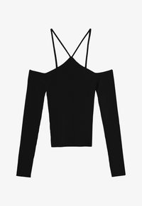Bershka - Long sleeved top - black - 4