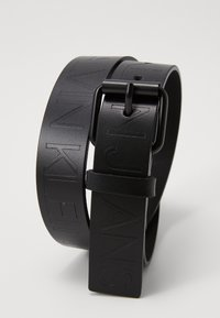 Calvin Klein Jeans - LOGO EMBOSSED BELT - Ceinture - black - 2
