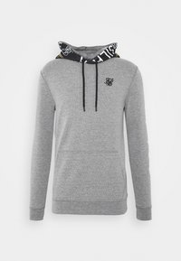 SIKSILK - MUSCLE FIT OVERHEAD HOODIE - Hoodie - grey marl - 3