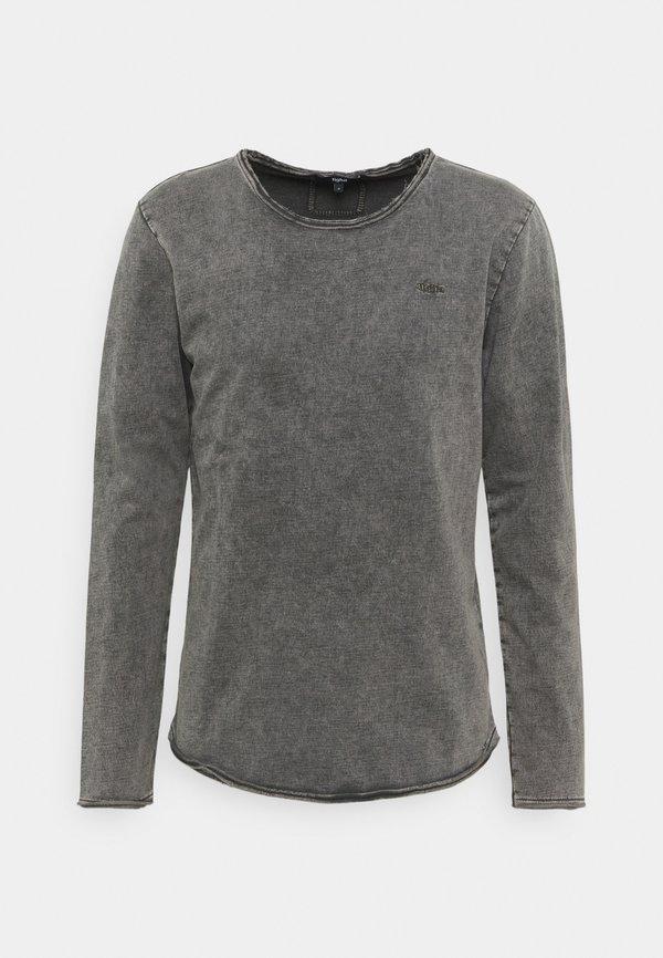 Tigha MILO SPRAY - Bluzka z długim rękawem - vintage stone grey/jasnoszary Odzież Męska BUUN