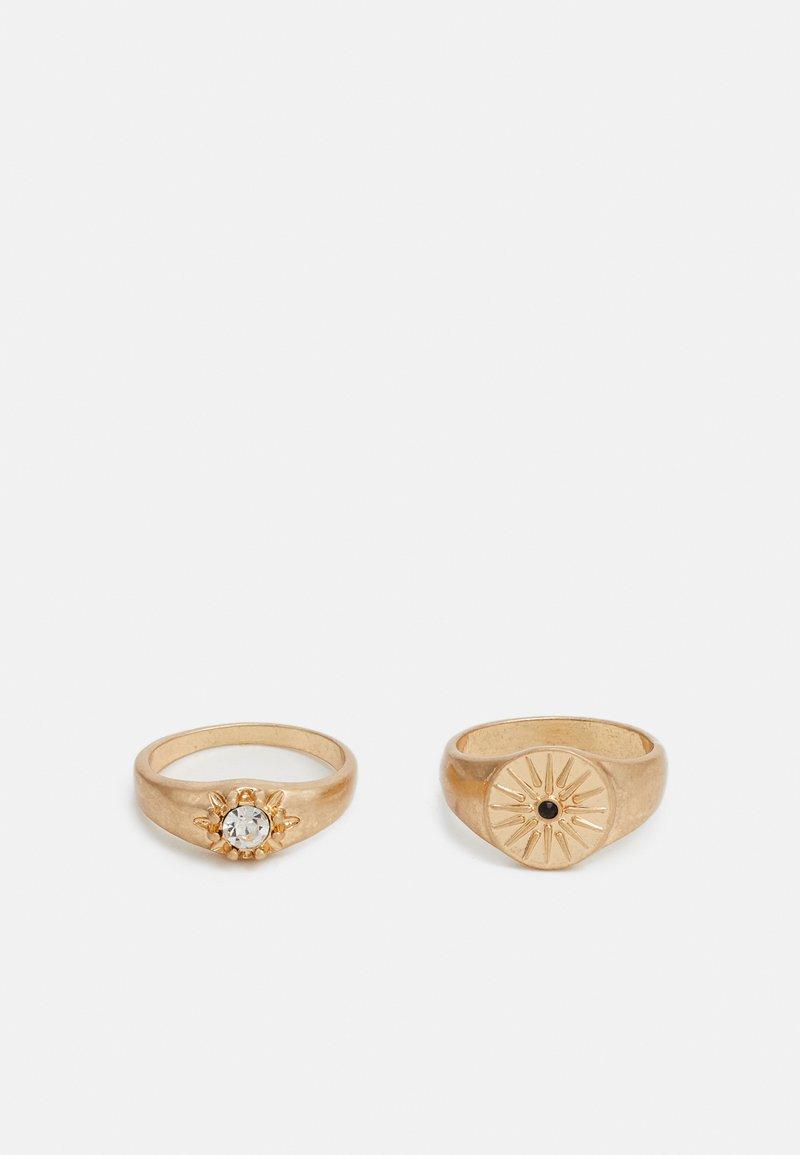 Burton Menswear London - STONE 2 PACK - Ring - gold-coloured