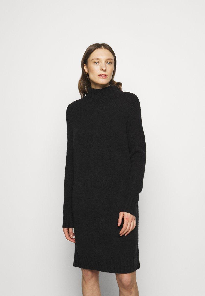 J.CREW - MOCKNECK SWEATER DRESS - Sukienka dzianinowa - black