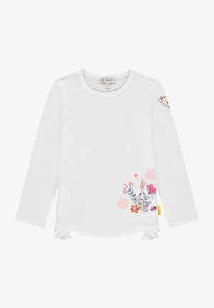 MIT BLUMENWIESE - Long sleeved top - bright white