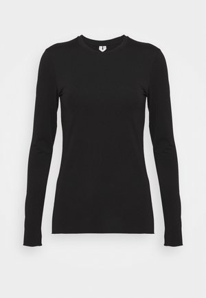 LONGSLEEVE - Long sleeved top - black dark