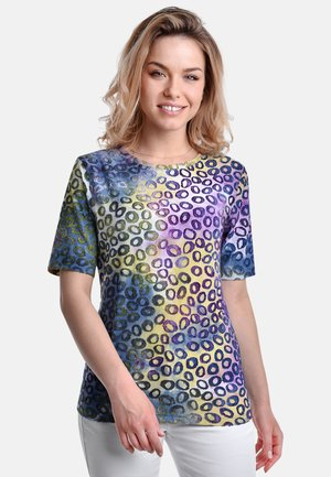 T-shirt med print - blue sand