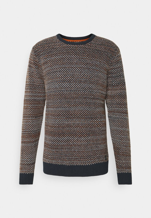 CREW NECK STUCTURE  - Maglione - navy