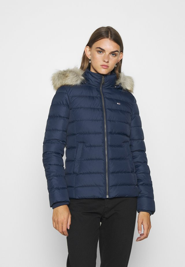 BASIC HOODED JACKET - Down jacket - twilight navy