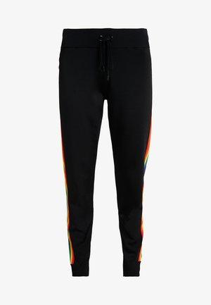 RAINBOW STRIPE PANTS - Tracksuit bottoms - black