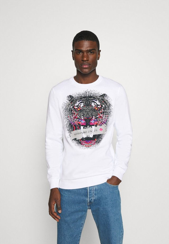 SAVAGE CREW - Sweatshirt - white
