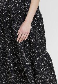 Topshop - SPOT PRINT CHUCK - Maxi dress - black - 5