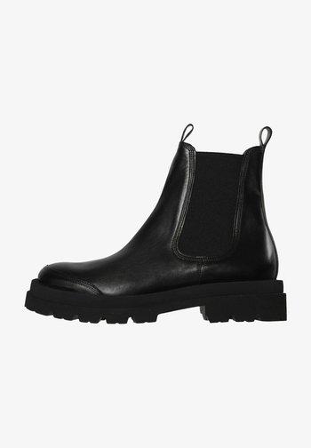 Platform ankle boots - schwarz