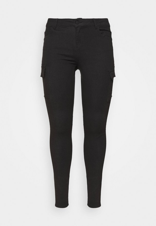 NMLUCY UTILITY PANTS - Cargo trousers - black
