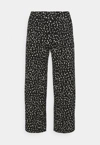 CAPSULE by Simply Be - CREPE WIDE LEG TROUSERS PRINTED - Trousers - mono - 0