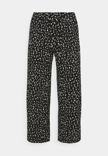 CREPE WIDE LEG TROUSERS PRINTED - Trousers - mono