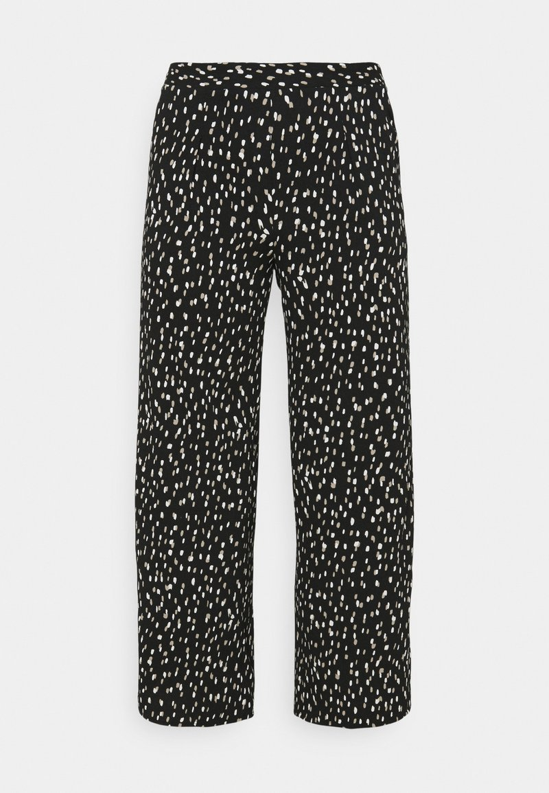 CAPSULE by Simply Be - CREPE WIDE LEG TROUSERS PRINTED - Trousers - mono