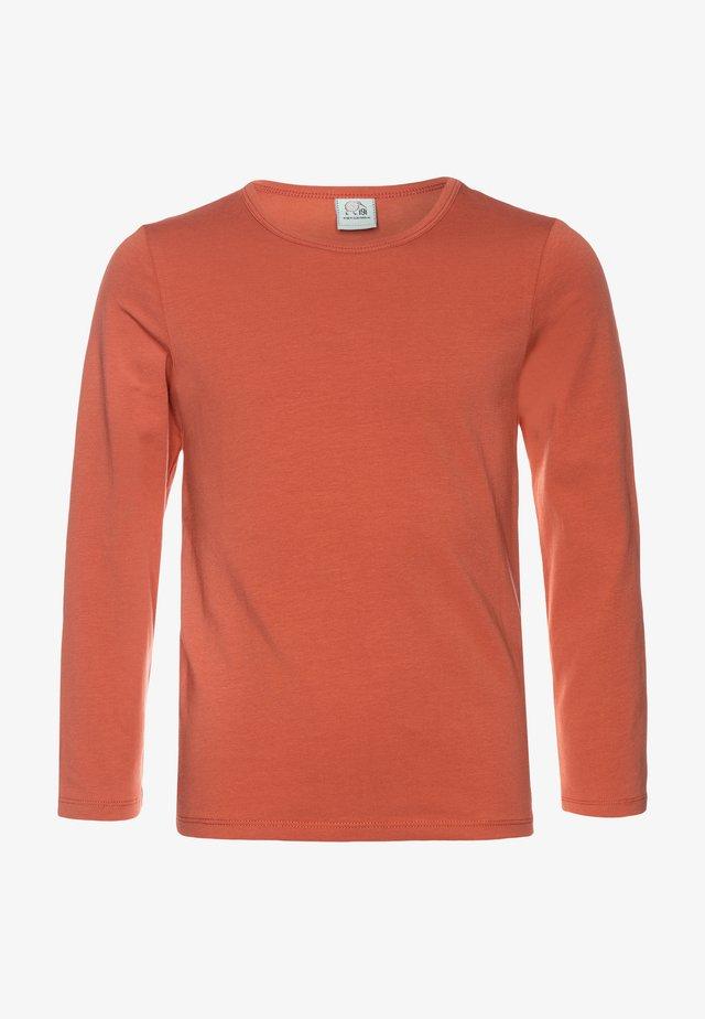 Langærmede T-shirts - redwood