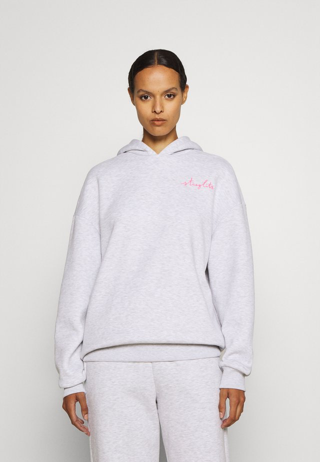 HOODIE - Sweatshirt - grey melange