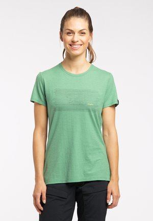 Print T-shirt - trail green