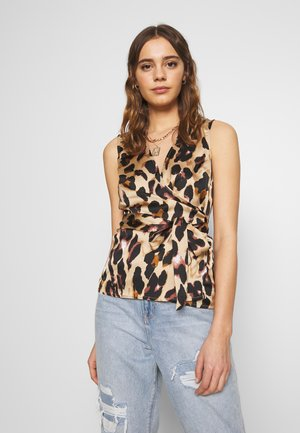 WRAP TOP - Blouse - leopard